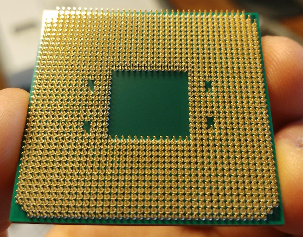 PGA-Seite des AM4-Prozessors