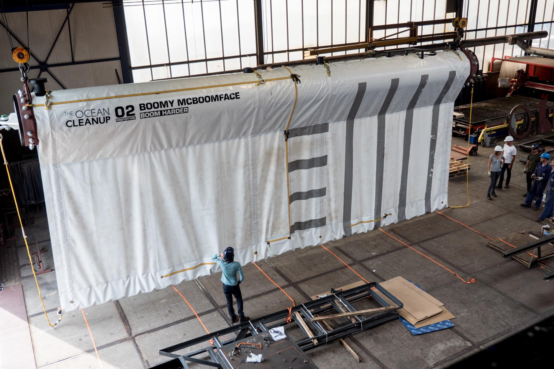 Prototyp der Barriere mit Vorhang