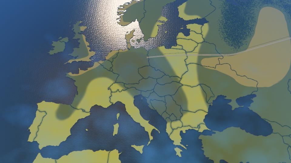 Screenshot der Europakarte