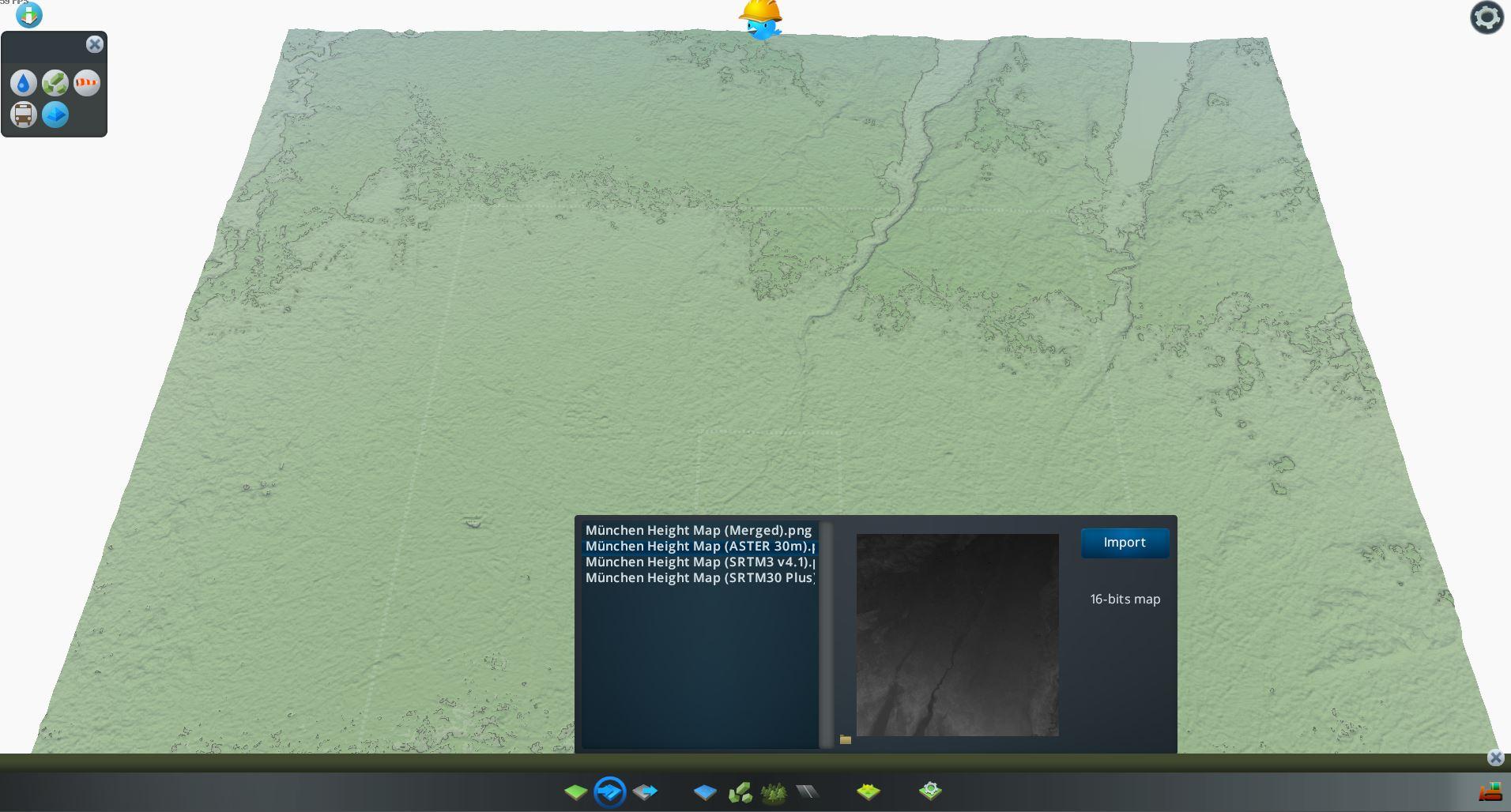 Bild der zweiten importierten Heightmap