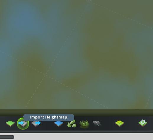Ingame Screenshot des Map Editors