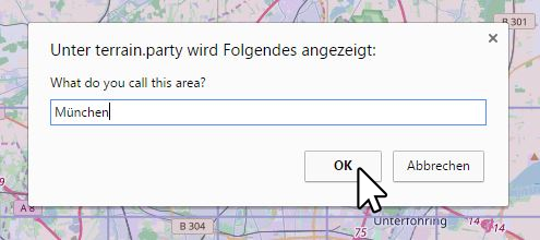 Dialogfenster terrain.party