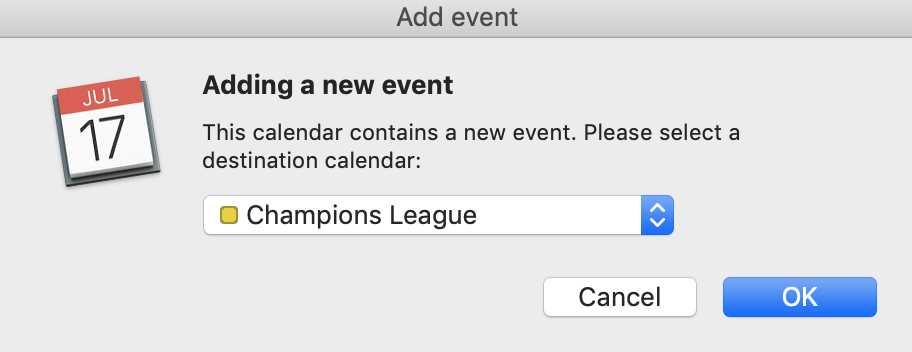 MacOS neues Ereignis zum Kalender hinzufügen.