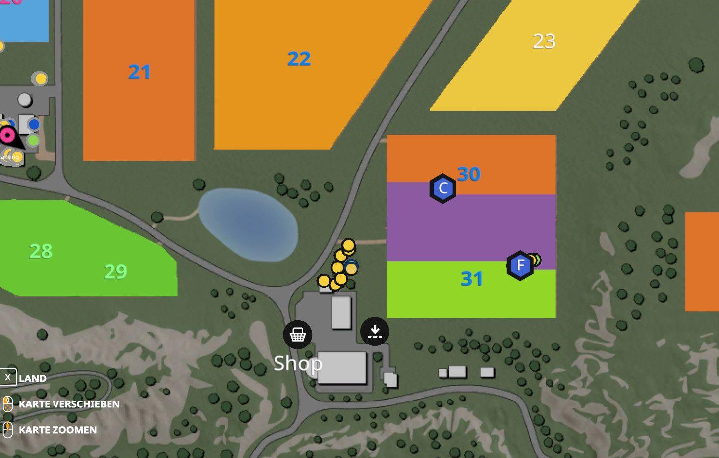 Übersicht wie Felder kombiniert wurden