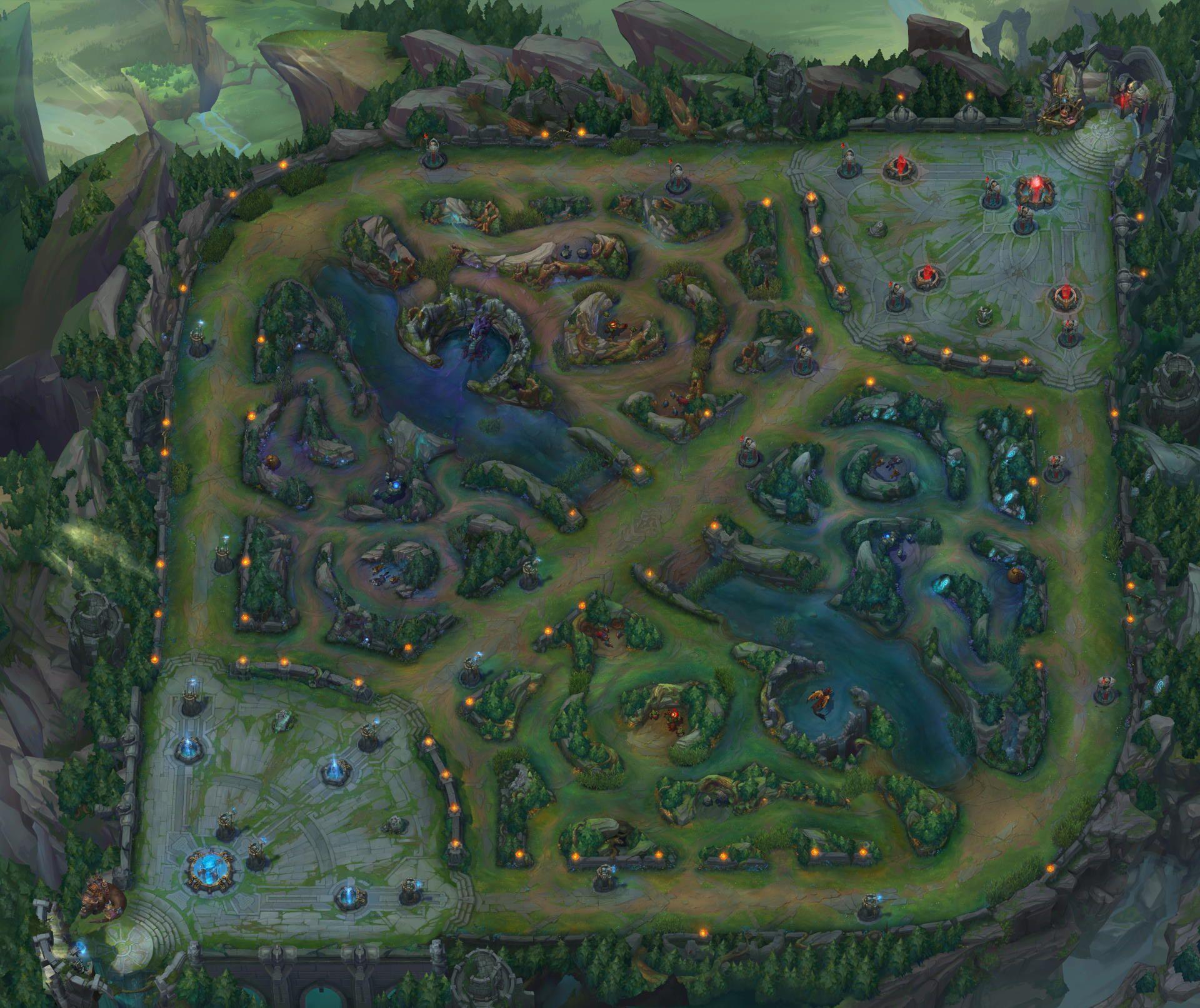 Kluft der Beschwörer in League of Legends (Vogelperspektive)