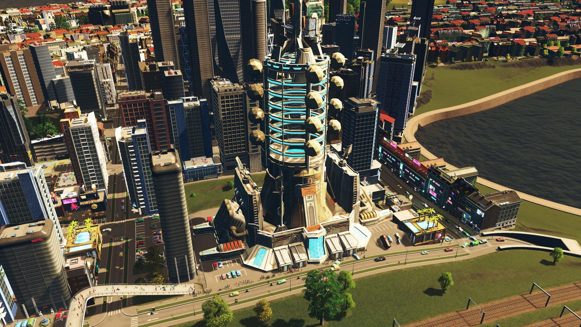 Weltraumlift in Cities Skylines