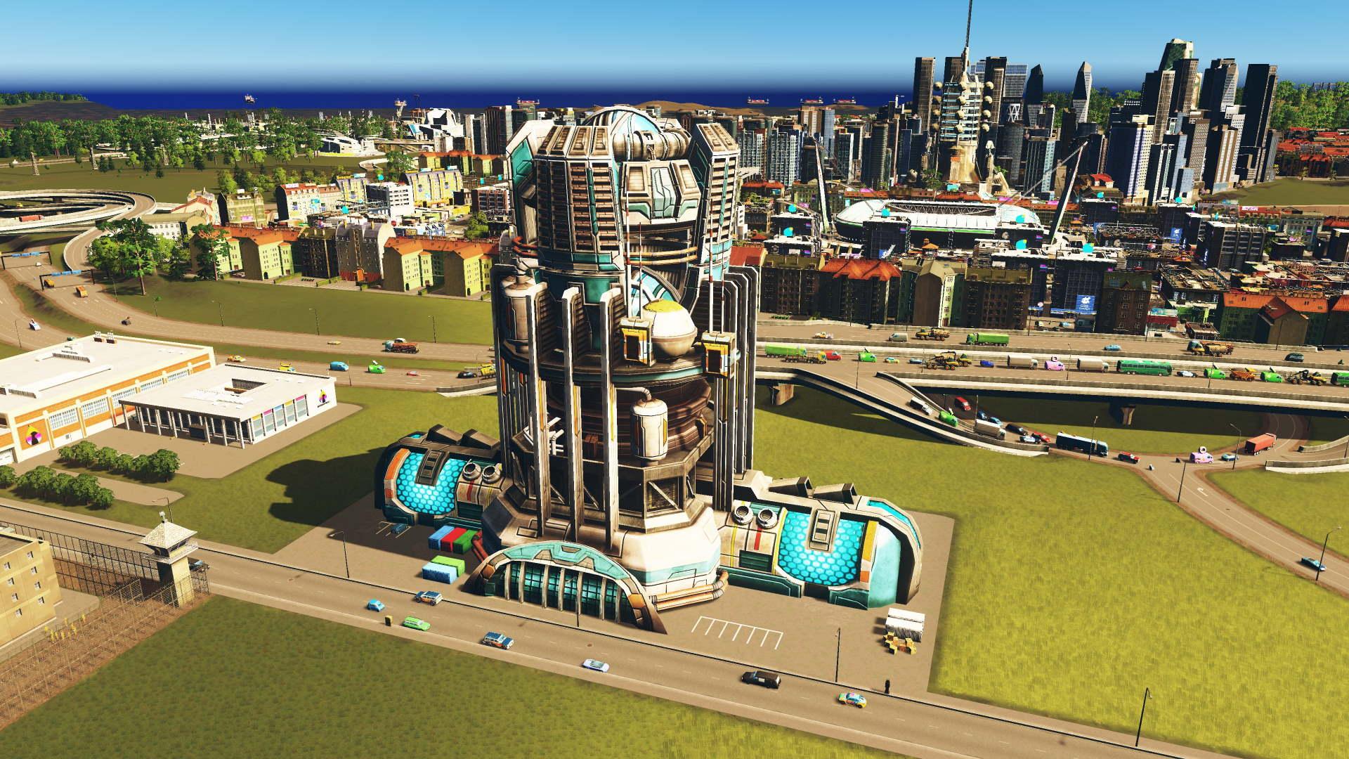 Kernfusionskraftwerk in Cities Skylines